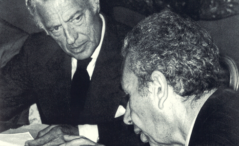 In 1976, in Rome, with the Prime Minister Aldo Moro, in order to discuss the difficult economic situation in Italy