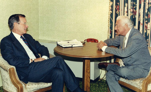 Meeting between The Avvocato and George H.W. Bush,  the 41st President of the United States, St. Cloud, Minnesota, in 1986