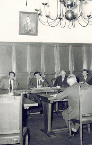 1960. With many of his old colleagues in the City Council of Villar Perosa