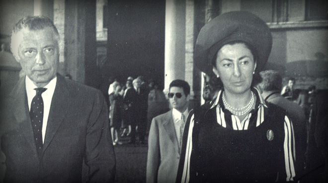 In Rome with his sister Maria Sole in Piazza del Quirinale in 1970