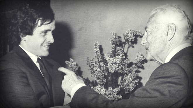 L'Avvocato Agnelli with Michel Platini