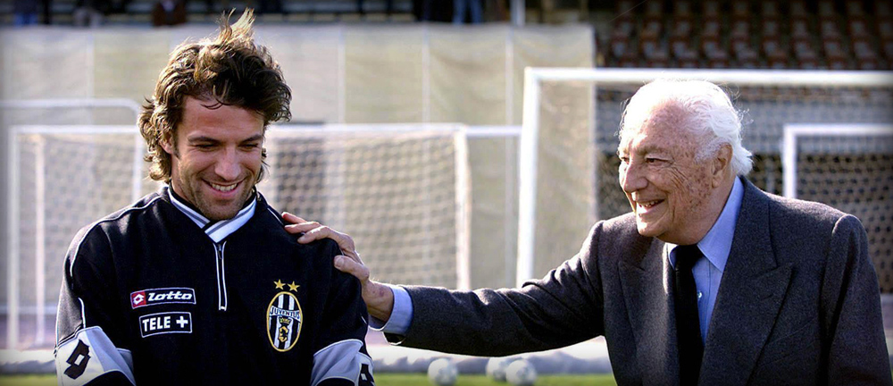 "Gianni Agnelli with Alessandro Del Piero,  the juventus player nicknamed  ""Pinturicchio"" by the Avvocato."