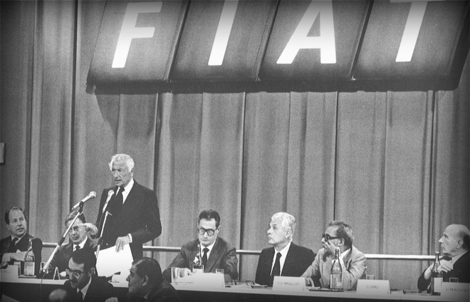 July 1983.  Shareholders Meeting at  Centro Storico Fiat.
